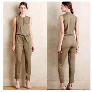 Anthropologie Elevenses Utility Jumpsuit Small